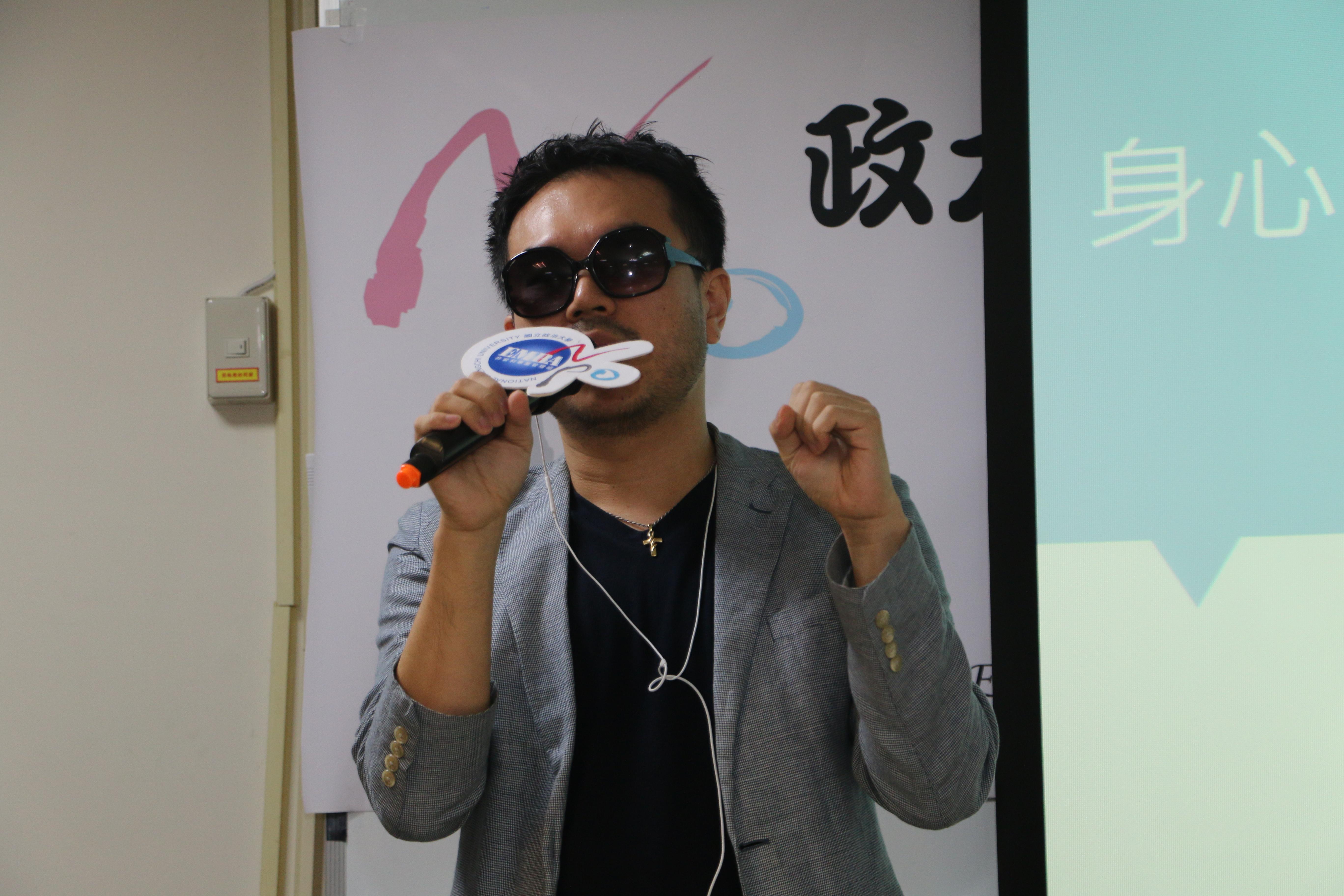 台灣視覺希望協會理事長甘仲維分享經驗。 圖/黃婕攝