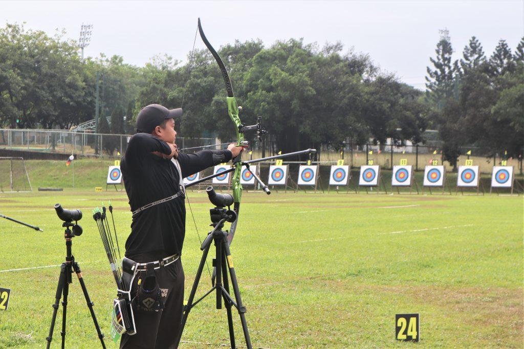 個人排名賽分為反曲弓男、女組70公尺雙局,一局射36支箭,總共會射出72支箭。 圖/黃婕攝